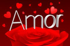 3D graphics, Valentine's Day, 14th February, hearts, Amor (greek)... Royalty Free Stock Photography