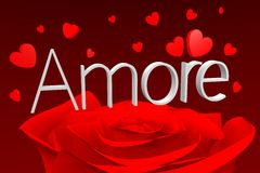 3D graphics, Valentine's Day, 14th February, hearts, Amore (italian)... Stock Photo