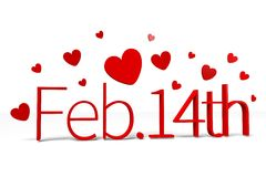 3D graphics, Valentine's Day, 14th February, hearts, Happy Valentines!... Stock Photography