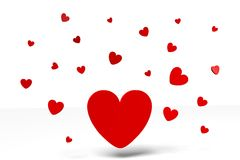 3D graphics, Valentine's Day, 14th February, hearts, Happy Valentines!... Stock Images
