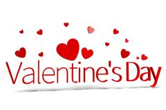 3D graphics, Valentine's Day, 14th February, hearts, Happy Valentines!... Royalty Free Stock Image