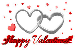 3D graphics, Valentine's Day, 14th February, hearts, Happy Valentines!... Stock Image