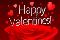 3D graphics, Valentine's Day, 14th February, hearts, Happy Valentines!... Stock Photos