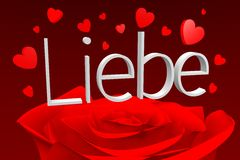 3D graphics, Valentine's Day, 14th February, hearts, Liebe (german)... Stock Photography