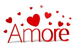 3D graphics, Valentine's Day, 14th February, hearts, Love, Amore (italian) Royalty Free Stock Images