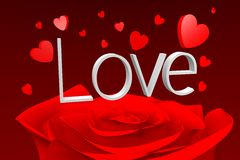 3D graphics, Valentine's Day, 14th February, hearts, Love... Stock Image