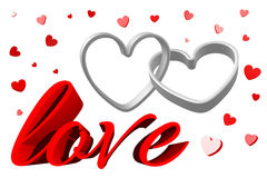 3D graphics, Valentine's Day, 14th February, hearts, love... Royalty Free Stock Photos