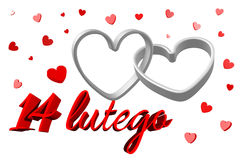 3D graphics, Valentine's Day, 14th February, hearts, 14 lutego Stock Photo