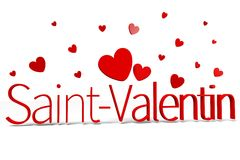 3D graphics, Valentine's Day, 14th February, hearts, Saint-Valentin (french)... Stock Images