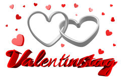 3D graphics, Valentine's Day, 14th February, hearts, Valentinestag Stock Photography