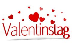 3D graphics, Valentine's Day, 14th February, hearts, Valentinstag (german)... Stock Image