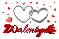 3D graphics, Valentine's Day, 14th February, hearts, Walentynki  Stock Photography
