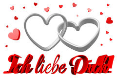 3D graphics, Valentine's Day, 14th February, Ich liebe Dich! Stock Photo