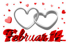 3D graphics, Valentines Day, 14th February, hearts Stock Photos