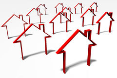 3D graphiques, métaphores, immobiliers, problèmes de logement