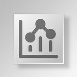 3D graphs Button Icon Concept. 3D Symbol Gray Square graphs Button Icon Concept Royalty Free Stock Photo