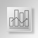 3D graphs icon Business Concept Royalty Free Stock Photo