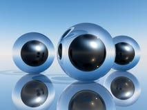 3D Grappige ogen Stock Foto