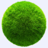 3D grass ball Stock Photography