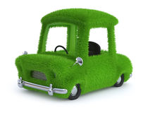 3d Grass covered car Royalty Free Stock Photography