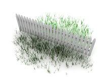 3d: Grass is Always Greener on the Other Side of the Fence Royalty Free Stock Photography