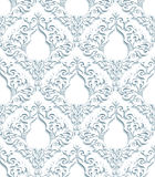 3D Gray Damask Pattern Royaltyfri Fotografi