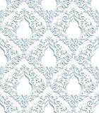 3D Gray Damask Pattern Royalty Free Stock Photography