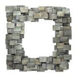 3d gray frame tile grunge pattern on white Stock Photography