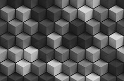 3D gray geometric background Royalty Free Stock Photo