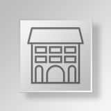 3D Gray Square Object Symbol Concept illustration stock