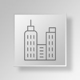 3D Gray Square Object Symbol Concept illustration libre de droits