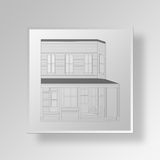 3D Gray Square Object Symbol Concept illustration de vecteur