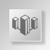3D Gray Square Object Symbol Concept Royalty-vrije Stock Foto