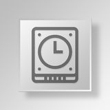 3D Gray Square Object Symbol Concept libre illustration