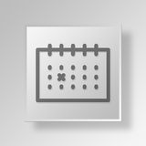 3D Gray Square Object Symbol Concept Stock Afbeelding
