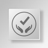 3D Gray Square Object Symbol Concept Fotos de Stock Royalty Free