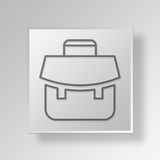3D Gray Square Object Symbol Concept Foto de Stock Royalty Free