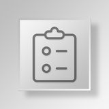 3D Gray Square Object Symbol Concept Fotografia de Stock Royalty Free