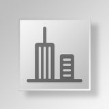 3D Gray Square Object Symbol Concept Fotos de Stock