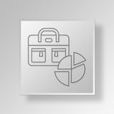3D Gray Square Object Symbol Concept Imagem de Stock Royalty Free