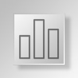 3D Gray Square Object Symbol Concept Immagine Stock