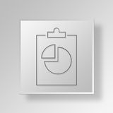 3D Gray Square Object Symbol Concept Stock Foto's