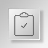 3D Gray Square Object Symbol Concept stock illustrationer