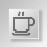 3D Gray Square Object Symbol Concept Fotos de archivo