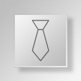 3D Gray Square Object Symbol Concept Photographie stock libre de droits