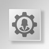 3D Gray Square Object Symbol Concept Imagens de Stock Royalty Free