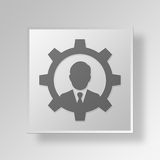 3D Gray Square Object Symbol Concept Arkivfoto