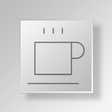 3D Gray Square Object Symbol Concept Photo libre de droits