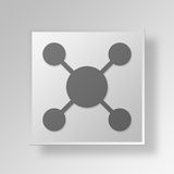 3D Gray Square Object Symbol Concept Royalty-vrije Stock Afbeelding