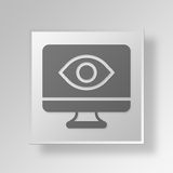 3D Gray Square Object Symbol Concept Photographie stock